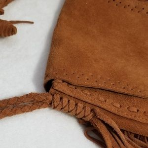 unknown Bags - Suede leather tooled cross body purse bag